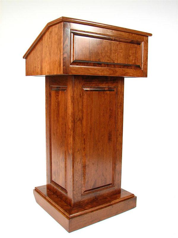 Cho thuê bục phát biểu bằng gỗ