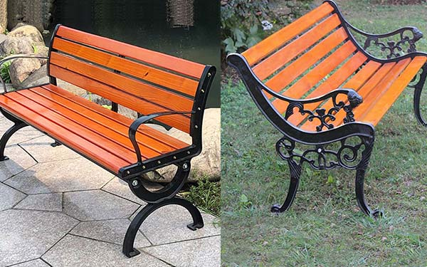 Giá củaghế công viên gỗ và ghế nhựa composite