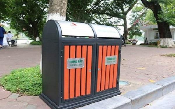 Thùng rác có tính thẩm mỹ cao thích hợp đặt ở trường học