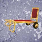 Mẫu xe đẩy hành lý inox vàng tinh tế