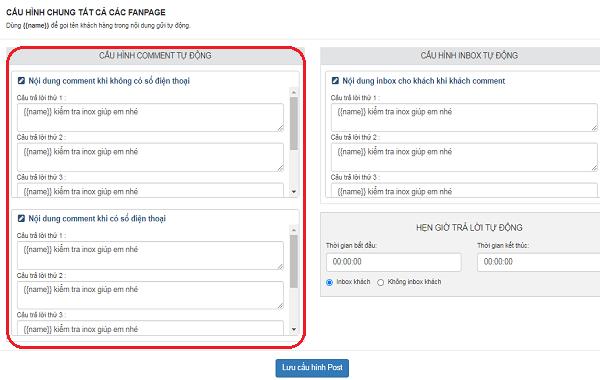 Cài đặt mẫu câu gửi tin nhắn tự động đến khách hàng