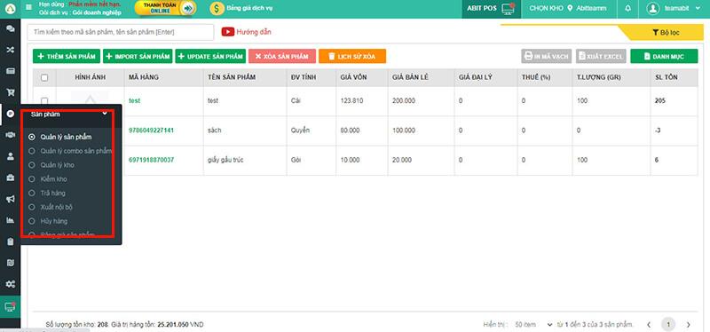 Phần mềm quản lý kho hàng online hiệu quả