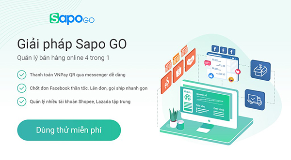 Phần mềm quản lý bán hàng Sapo Go
