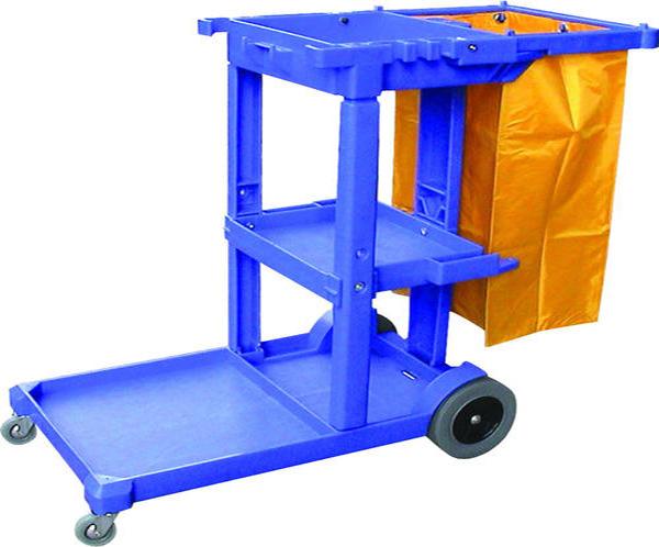 Xe đẩy làm vệ sinh màu xanh