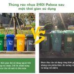 Những đặc điểm nhận biết thùng rác nhựa chất lượng cao