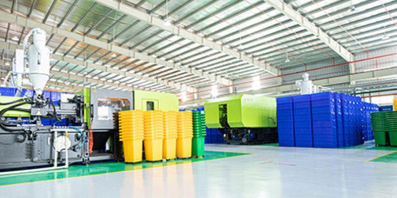 Giới thiệu xưởng sản xuất thùng rác của Hành Tinh Xanh