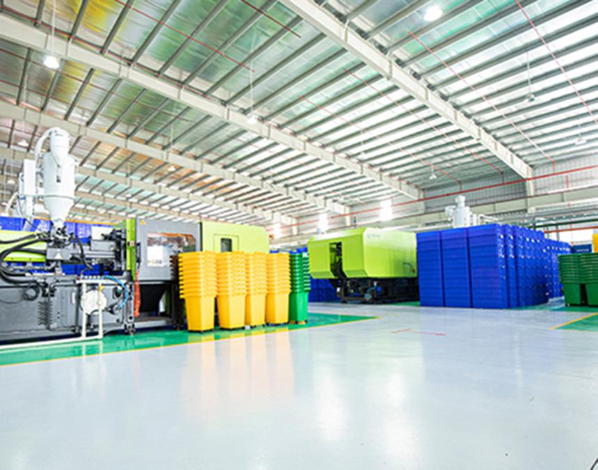 Các bước sản xuất thùng rác nhựa tại Hành Tinh Xanh