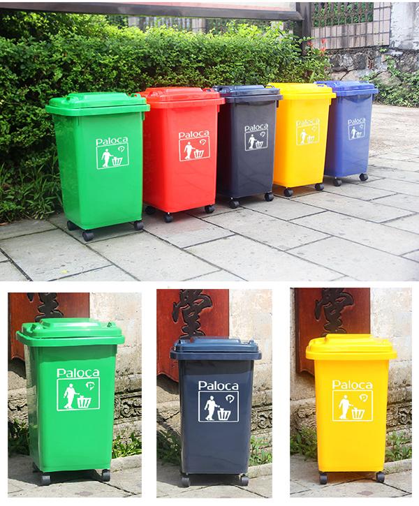 Top 4 mẫu thùng rác có bánh xe được sử dụng nhiều nhất