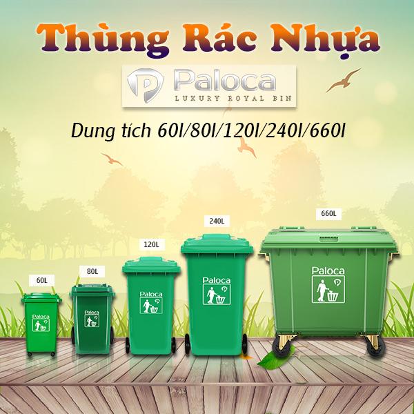 Những điều cần biết về thùng rác nhựa Paloca