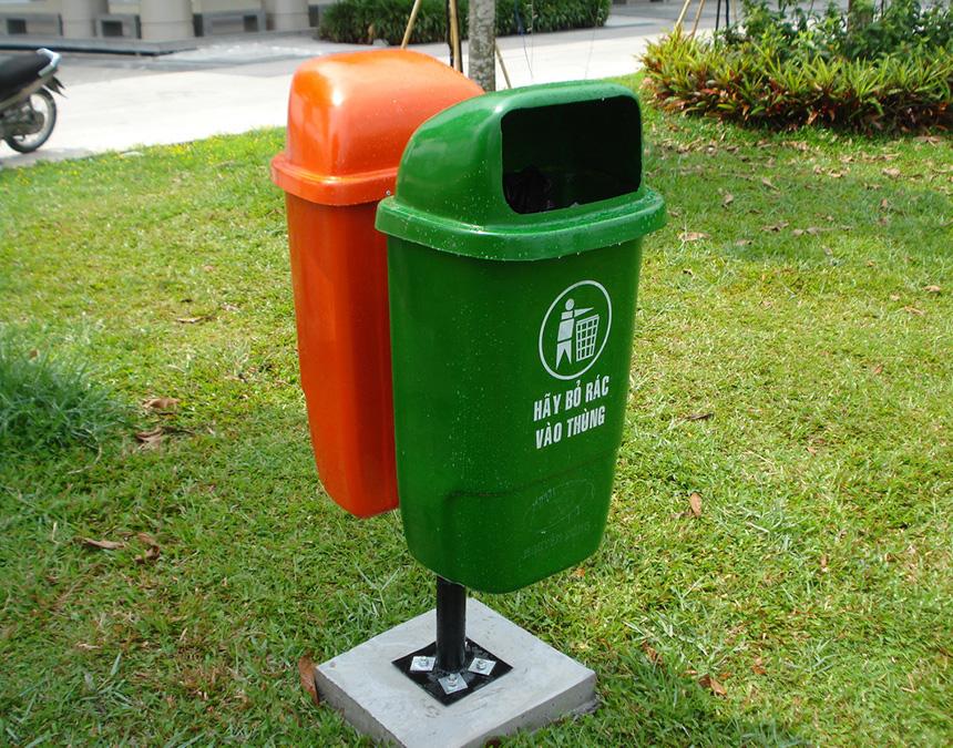 Giới thiệu mẫu thùng rác nhựa cố định thương hiệu Paloca