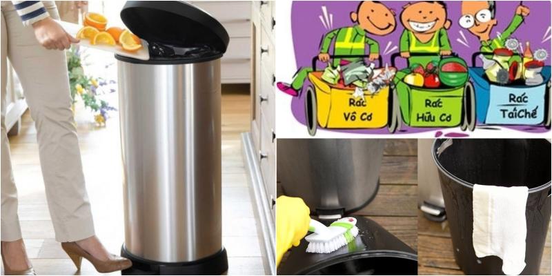 Đặt thùng rác trong nhà cần lưu ý những gì?