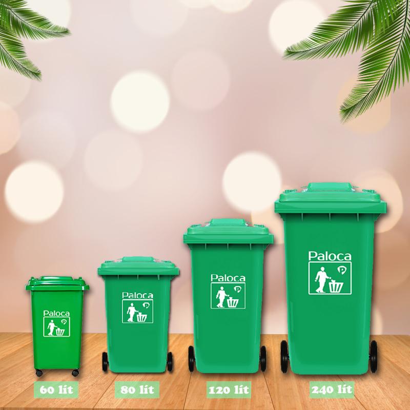 Các loại thùng rác có nắp đậy phổ biến nhất