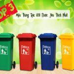 Điểm danh 3 mẫu thùng rác nhựa 120l được sử dụng nhiều