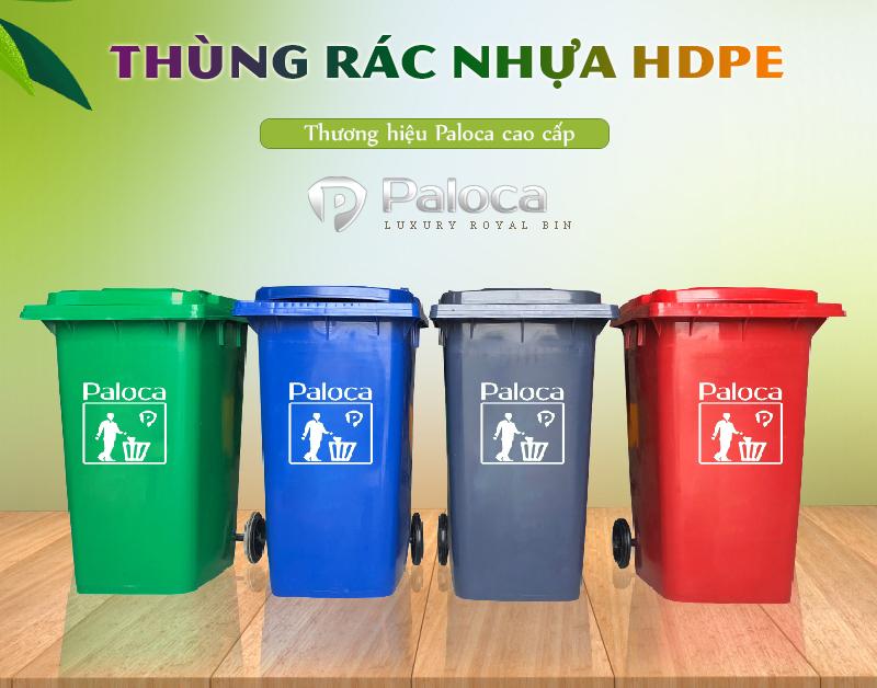 Ưu điểm nổi bật của thùng rác HDPE