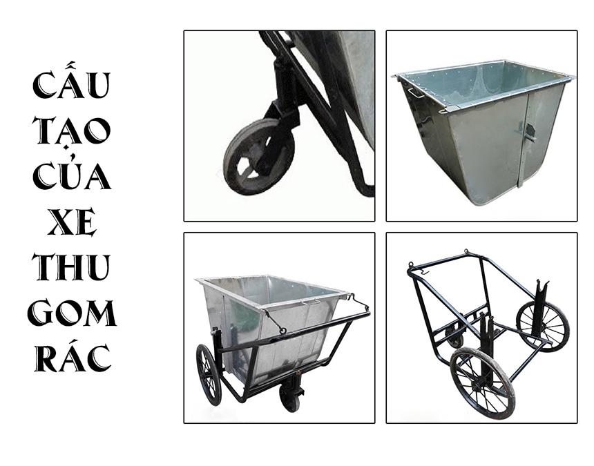 Giới thiệu mẫu xe thu gom rác đẩy tay 3 bánh