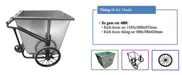 Các loại xe thu gom rác phổ biến được sử dụng nhiều nhất hiện nay