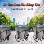 Quá trình sản xuất xe thu gom rác bằng tôn tại Hành Tinh Xanh