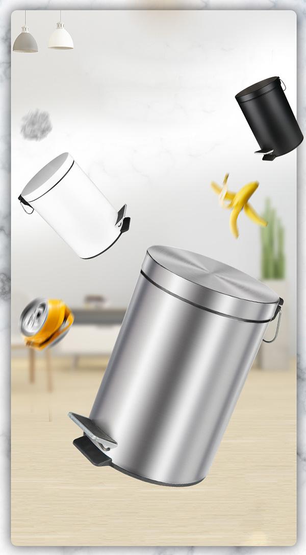 Ưu điểm của thùng rác inox đạp chân