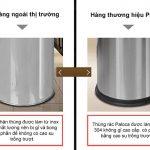 So sánh thùng rác inox Paloca và thùng rác inox ngoài thị trường