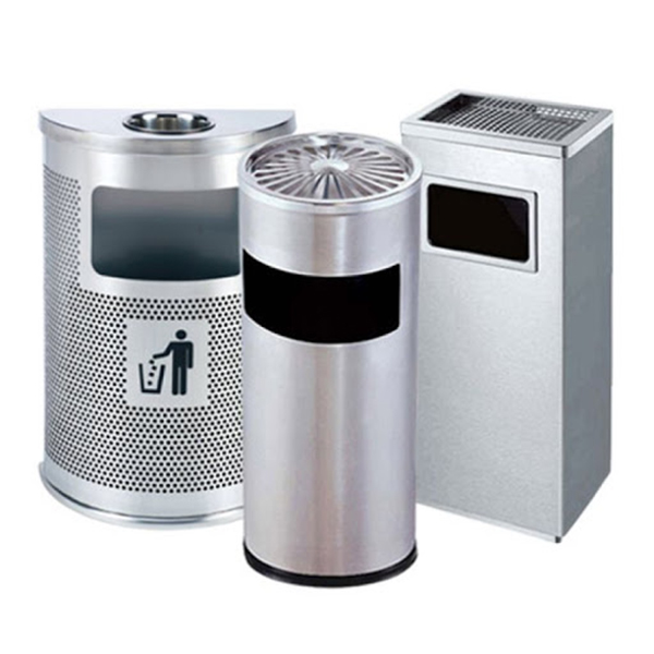 Thông tin chi tiết về thùng rác inox có gạt tàn thuốc lá