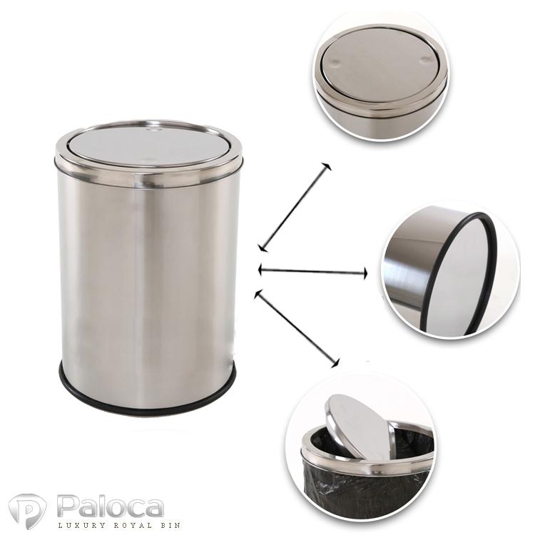 Nguyên lý hoạt động của thùng rác inox nắp lật