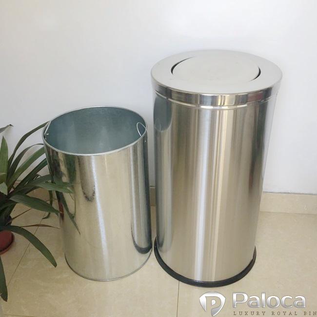 Cấu tạo của thùng rác inox nắp lật