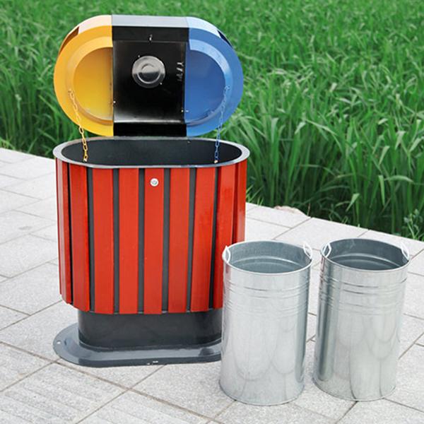 Cấu tạo chi tiết của thùng rác gỗ tự nhiên