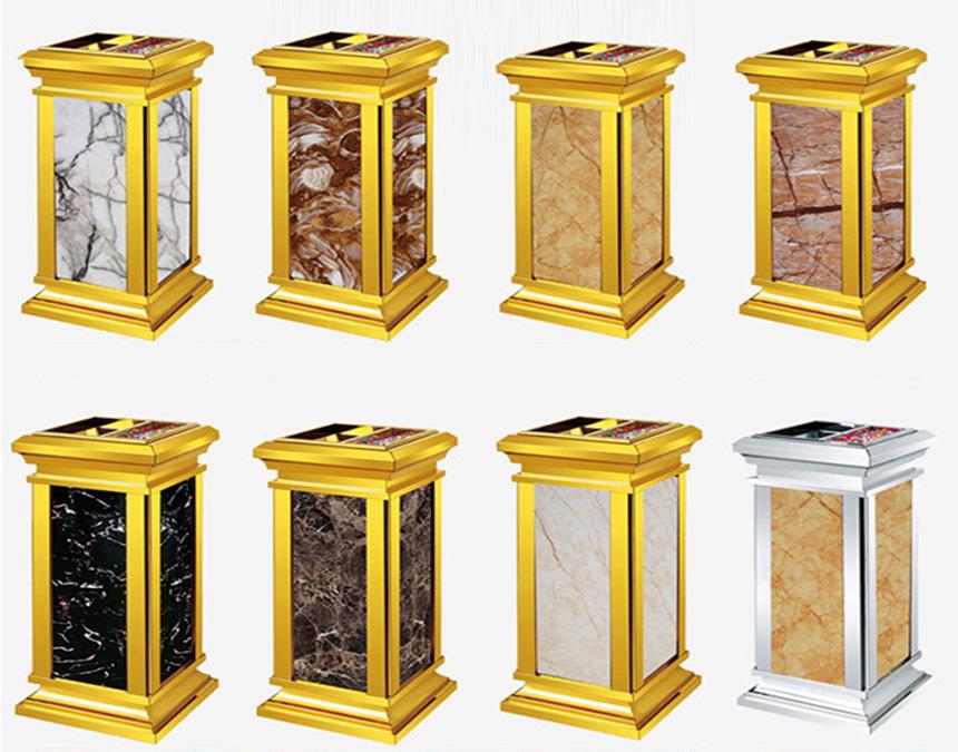 Các loại đá thường dùng làm thùng rác đá