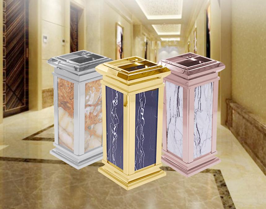 Có thể trang trí cảnh quan bằng những mẫu thùng rác sau