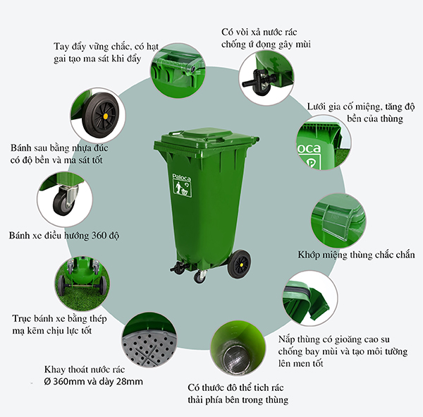 Địa chỉ bán thùng rác hữu cơ uy tín giá rẻ trên toàn quốc