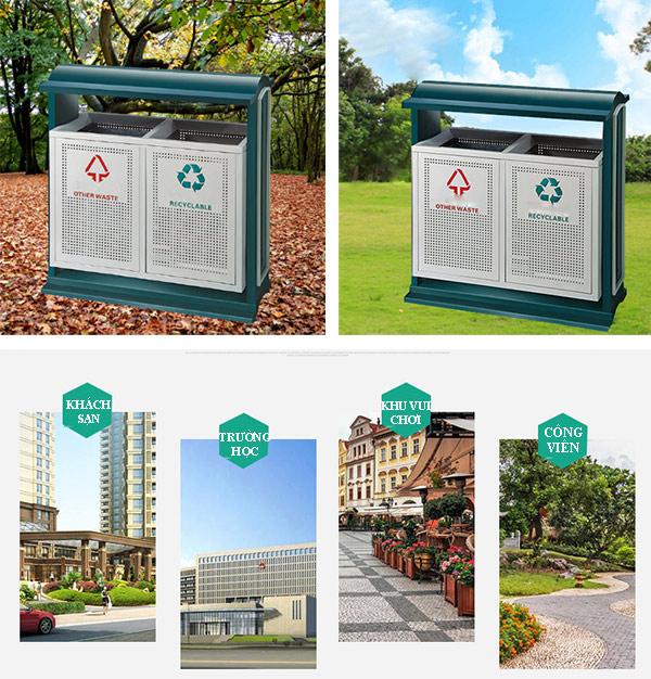 Đơn vị bán thùng rác công viên uy tín