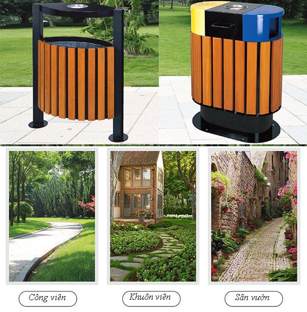 Vì sao thùng rác gỗ thường đặt ngoài trời?