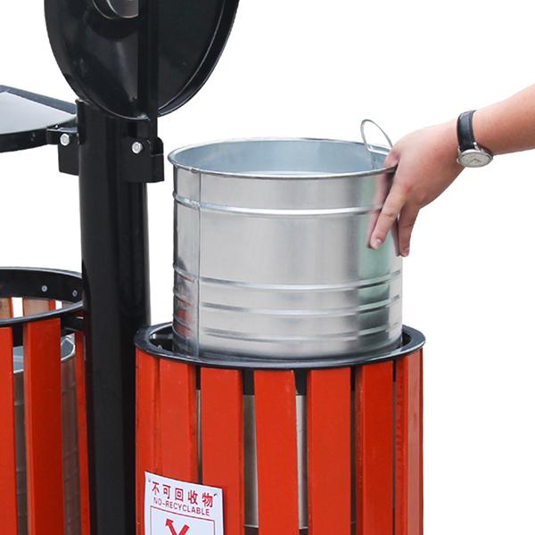 Đặc điểm nổi bật của thùng rác gỗ treo đôi
