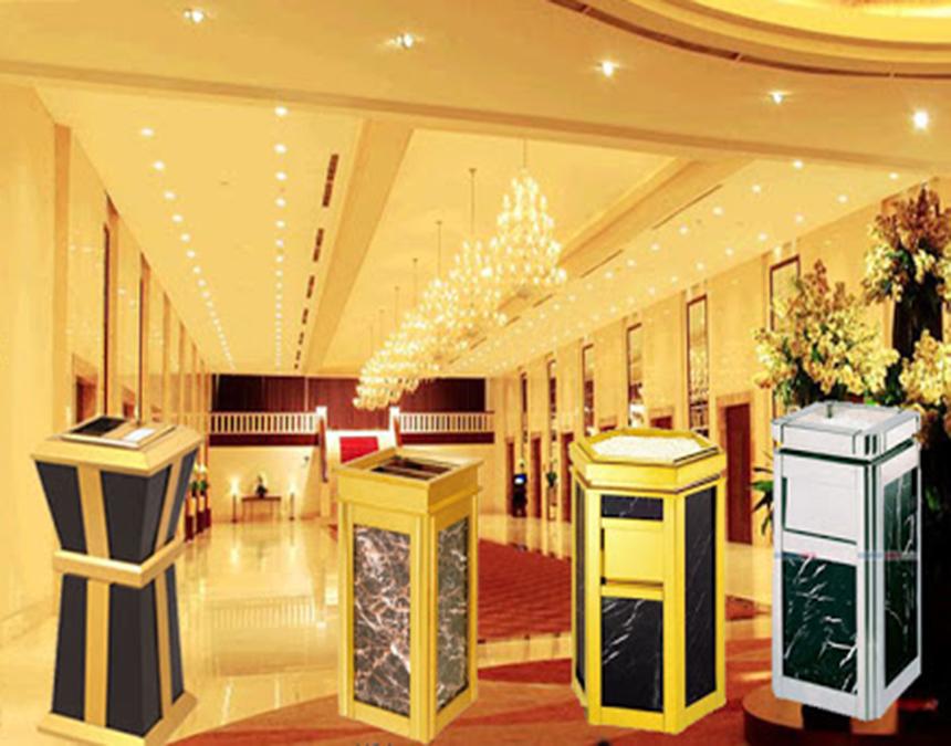 Lựa chọn thùng rác đá hoa cương cho khách sạn